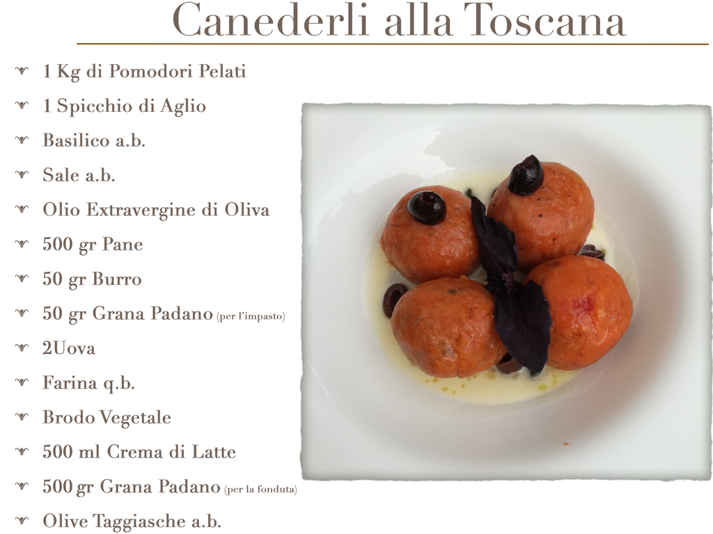 Ricette senza glutine Canederli alla Toscana